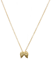 Dogeared 14ct Gold Plated Guardian Angel Wings Reminder Pendant Necklace, Gold