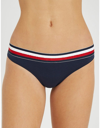 Tommy Hilfiger Mod Stripe stretch-cotton thong