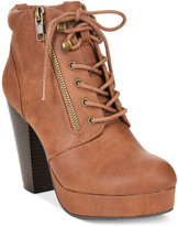 Material Girl Rheta Lace-Up Platform Booties, Only at Macy's