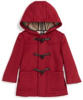Burberry Toddler Girl's 'Brogan' Hooded Wool Toggle Coat