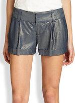Alice + Olivia Eric Cuffed Iridescent Shorts