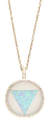 Noor Fares Ajna Grey-gold, Opal & Chalcedony Pendant Necklace - Womens - Blue