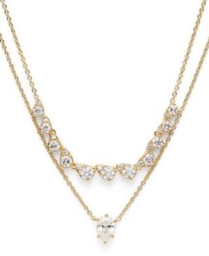 "Eliot Danori Cubic Zirconia Layered Necklace, 17"" + 2"" extender, Created for Macy's"