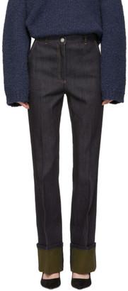 Bottega Veneta Navy Cuffed Jeans