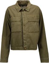 Current/Elliott The Shipyard frayed cotton-blend jacket