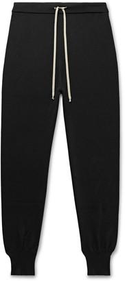 Rick Owens Slim-Fit Tapered Merino Wool-Blend Sweatpants