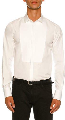 DSQUARED2 Round-Bib Slim-Fit Tuxedo Shirt
