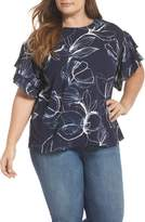 Vince Camuto Petal Tiered Sleeve Top