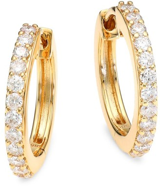 Astley Clarke 14K Yellow Gold & Diamond Halo Medium Hoop Earrings