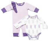 Infant Girl's Monica + Andy Jack & Jill Bodysuit & Ruffle Romper Set
