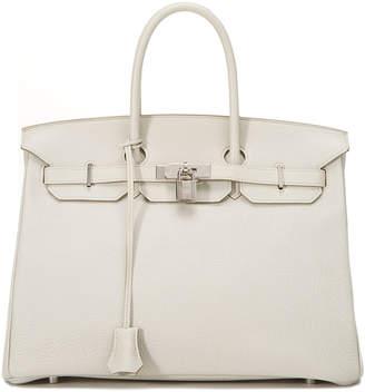 Hermes Pebbled Leather Medium Birkin Satchel Bag, Pearl Grey