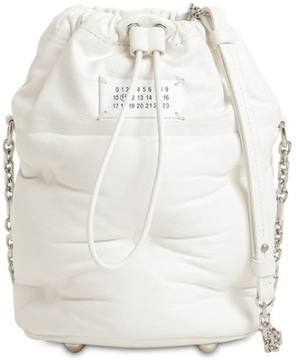 Maison Margiela GLAM SLAM LEATHER BUCKET BAG