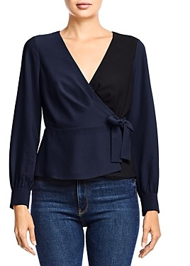 Bailey 44 Nina Color-Block Wrap Top