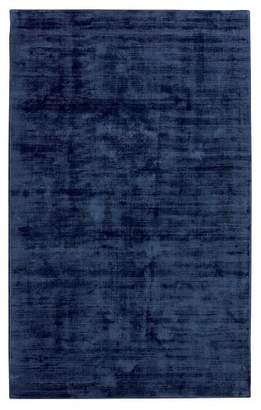 Pottery Barn Teen Solid Viscose Rug, 8'x10', Navy