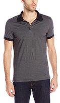 J. Lindeberg Men's Rubi Stripe Lux Jersey Slim Fit Polo Shirt