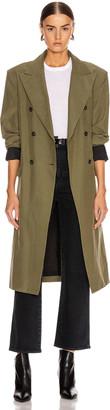 John Elliott Belted Trench Coat in Olive | FWRD