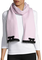 Kate Spade Bow-Accented Knit Scarf