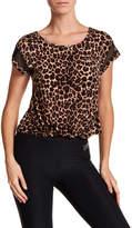 Bebe Cheetah Print Front Twist Tee