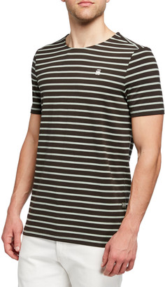 G Star Men's Xartto Striped Organic Cotton T-Shirt