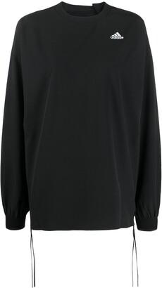 adidas x HYKE logo print sweatshirt