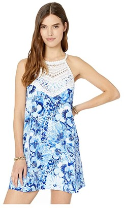 Lilly Pulitzer Pearl Soft Shift (Coastal Blue Catch N Keep Small) Women's Dress