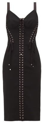Dolce & Gabbana Lace-up Corset Dress - Black