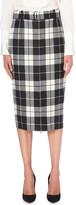 Max Mara Tartan stretch-wool pencil skirt