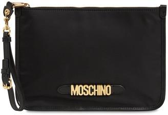 Moschino Metal Logo Zip Pouch