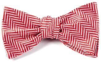 The Tie BarThe Tie Bar Red Native Herringbone Bow Tie