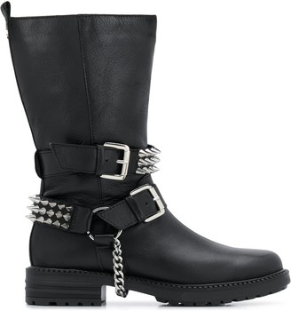 Carvela Savage wide studded boots
