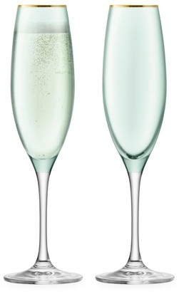 LSA International Sorbet Champagne Flute Two-Piece Set