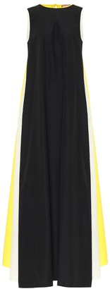 Plan C Colorblocked poplin maxi dress