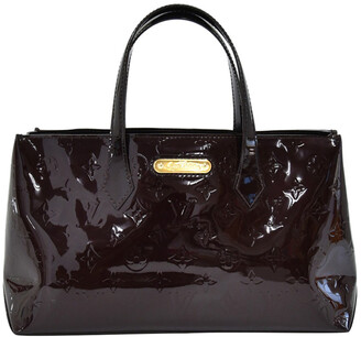 Louis Vuitton Purple Amarante Vernis Leather Willshire Bag