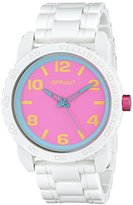 Sprout Unisex ST/7010PKWT Pink Dial White Corn Resin Bracelet Watch