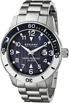 Sperry Men's 10014913 Diver Analog Display Japanese Quartz Silver Watch
