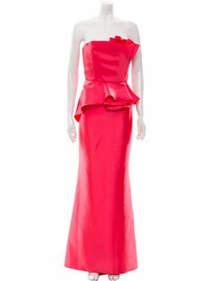 Carmen Marc Valvo Strapless Long Dress w/ Tags Pink