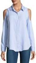Rails Sadie Button-Front Long-Sleeve Shirt, Blue