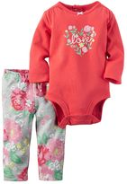 Carter's Baby Girl Glitter Bodysuit & Floral Leggings Set