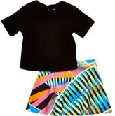 River Island Mini girls black t-shirt and skirt outfit