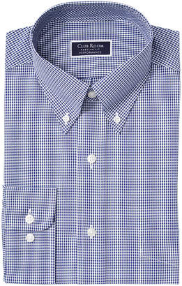 Club Room Men Classic/Regular Fit Stretch Mini Gingham Dress Shirt