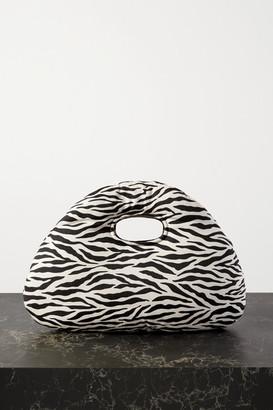 A.W.A.K.E. Mode Lucy Padded Zebra-print Cotton-twill Tote - Zebra print