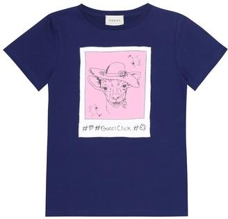 Gucci Kids #GucciClick printed cotton T-shirt