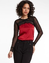 Morgan Lace Sleeve Top