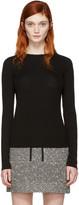 Carven Black Ribbed Pullover