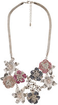 Jeweled Flower Drop Necklace