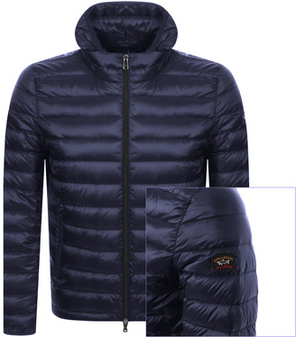 Paul & Shark Paul And Shark Full Zip Quilted Hooded Jacket Navy