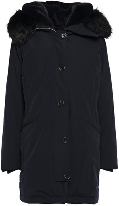 MICHAEL Michael Kors Faux Fur-trimmed Quilted Shell Hooded Down Coat