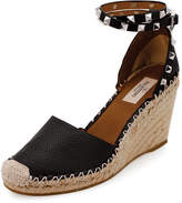 Valentino Rockstud Double Espadrille Wedge Pump