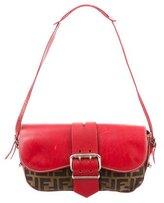 Fendi Leather & Zucca Shoulder Bag