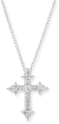 Jude Frances 18k Diamond Cross Pendant